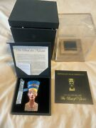 Pure Silver Coin 3 Oz Sculpture Of Nefertiti Mintage 1000 Only 2013