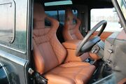 Tan Leather Corbeau Low Base Heated Front Seats Fit Land Rover Defender 90 110
