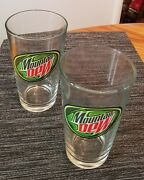 2006 Mountain Dew Collectible Pint Glasses Nice Gift Lot Of 2