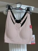 Skinny Girl Black Nude 2 Lazer Cut Lounge Braand039s Removable Pads Size S Nwt