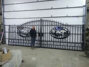 Custom Iron Gate Steel Gate Biparting 20and039 Entrance Gate Driveway Gate Fence