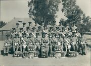 Photo Grenadier Guards Group Photo Post Ww2 With Regimental Drums Cyprus 1940s