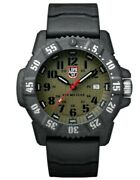 New Luminox Navy Seal Carbonx Xs.3813 Olive Green Dial/black Strap Men's Watch