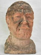 Vintage French Male Bust - Clay 14¼