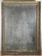 Very Large 18th Century Directoire Mirror With Timeworn Glass 32 X 44