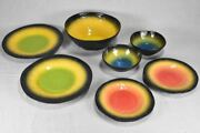 Collection Of Vintage Plates Bowls And Salad Bowl