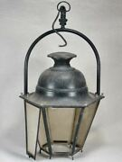 Large Antique French Lantern With Loop Handle 37andfrac34