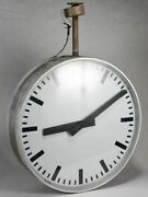 Large Vintage Swiss Clock From A Train Station With Two Faces 25¼