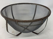 Vintage Rustic Farmhouse Wire Mesh Footed Screen Strainer Colander