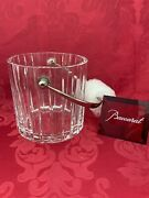 Flawless Exquisite Baccarat France Glass Harmonie Crystal Ice Bucket Container