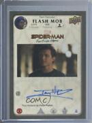 2020 Upper Deck Marvel Spider-man Far From Home Flash Mob Tom Holland Auto X9h
