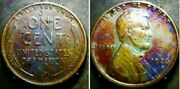 1926 S Lincoln Wheat Penny Cent Beautiful Toning