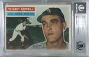 1956 Topps Dixie Howell Gray Back 149.1 Bas Certified Bgs Encased Auto