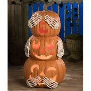 Bethany Lowe No Evil Pumpkin Stack Large Tj9522 Free Shipping