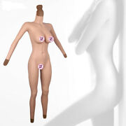 2021 Silicone Bodysuit D Cup Breast Forms With Sleeve Fake Vagina Hip Shaping