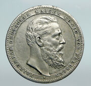 1851 Prussia Germany King Friedrich Iii Antique Vintage Silver Medal I90764
