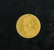 1905 4 Ducats Franz Joseph I Gold Coin With Hole