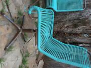 Vintage Turquoise Ames Aire Patio Set In Excellent Condition. Very Hard To Find.