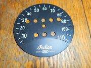 Indian New 1941-45 Chief Scout Four Jr Corbin Speedometer Face