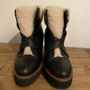 Coach Kenna Leather Boots, Size Us 7 Retails At 395.00
