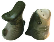 Bass Fish Head And Tail Salt And Pepper Shakers