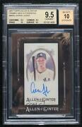 2017 Topps Allen And Ginterand039s Minis Framed Aaron Judge Ma-aj Bgs 9.5 Rookie Auto