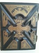 Holy Bible Parallel Version Late 1800s Gigantic Family Edition Lots Of Pictures