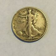 1919-s Walking Liberty Half Dollar - Very Fine - Uncleaned -tough Coin This Nice