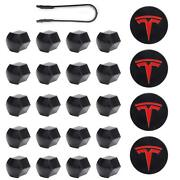 Aero Wheel Cap Kit Red For All Tesla Models Model 3 Y S X