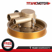 Crank Mounted Raw Water Sea Pump For Volvo Penta 4.3l 5.0l 5.7l Pulley Gxi Gl