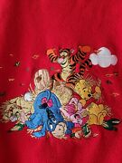Vintage The Disney Store Fleece Sweatshirt Xxl Pooh And Friends Embroidered Gift