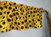 Sunflowers Floral Flowers Valance Curtain Living Room Sun Porch Patio Bedroom