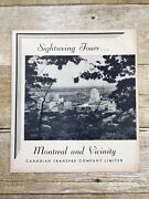 Canadian Transfer Company Travel Brochures Canada Steamship Lines Montreal 1930s