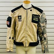 Mens M Power Trip Alpha Jacket Us Army Tactical Motorcycle Gear Khaki Camouflage