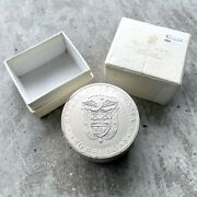 Sealed Roll 10 X 20 Balboas Silver Coin Panama 1974 - 38.66 Oz With Original Box