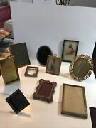 Antique/vintage Set Of 10 Bronze,brass, And More Picture Frame