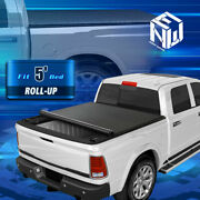 For 19-22 Ford Ranger 5ft Bed Soft Top Vinyl Roll Up Lock Tonneau Cover W/rails
