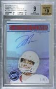2014 Gameday Gallery Prime Time Players Blue /15 Derek Carr Bgs 9 Rookie Auto
