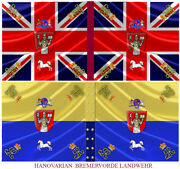 Hanovarian Napoleonic Flags With Kings Colours 28mm Set Of 12 Regts