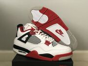 2020 Nike Air Jordan Retro 4 Fire Red Dc7770-160 Men In Hand And Ship Next Day