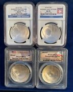2014-p Baseball Hall Of Fame Silver Dollars, Uncirculated Coins, Ngc And Pcgs Ms70