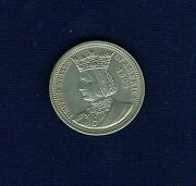 U.s. 1893 Isabella Quarter-dollar Silver Coin, Uncirculated With Light Toning