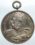 1889 Germany German States Saxony-albertine Albert Silver Medal Coin I90811