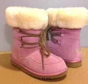 Nib Authentic Ugg Australia Orchid Pink Deme Boots Girl's Size 2 W4 Or 4 W6