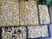 Over 2100 Scrabble Letter Tiles Vintage Used Wooden Set Of Small + Numbers See