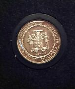 1972 Jamaica 10th Independence Anniversary Gold Coin In Presentation Case