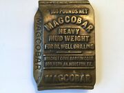 Vintage Magcobar Heavy Mud Weight Oil Well Drilling Solid Brass Belt Buckle