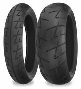 Shinko 009 Raven Sport-touring Front And Rear Tire Set 120/60zr-17 And 200/50zr-17