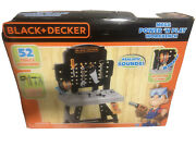 Black And Decker Mega Power N' Play Workbench W/ Sounds + 52 Tools And Acc - New