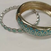 2 Count Bracelets Turquoise And Silver Turquoise And Gold Cuff Bangles Next...
